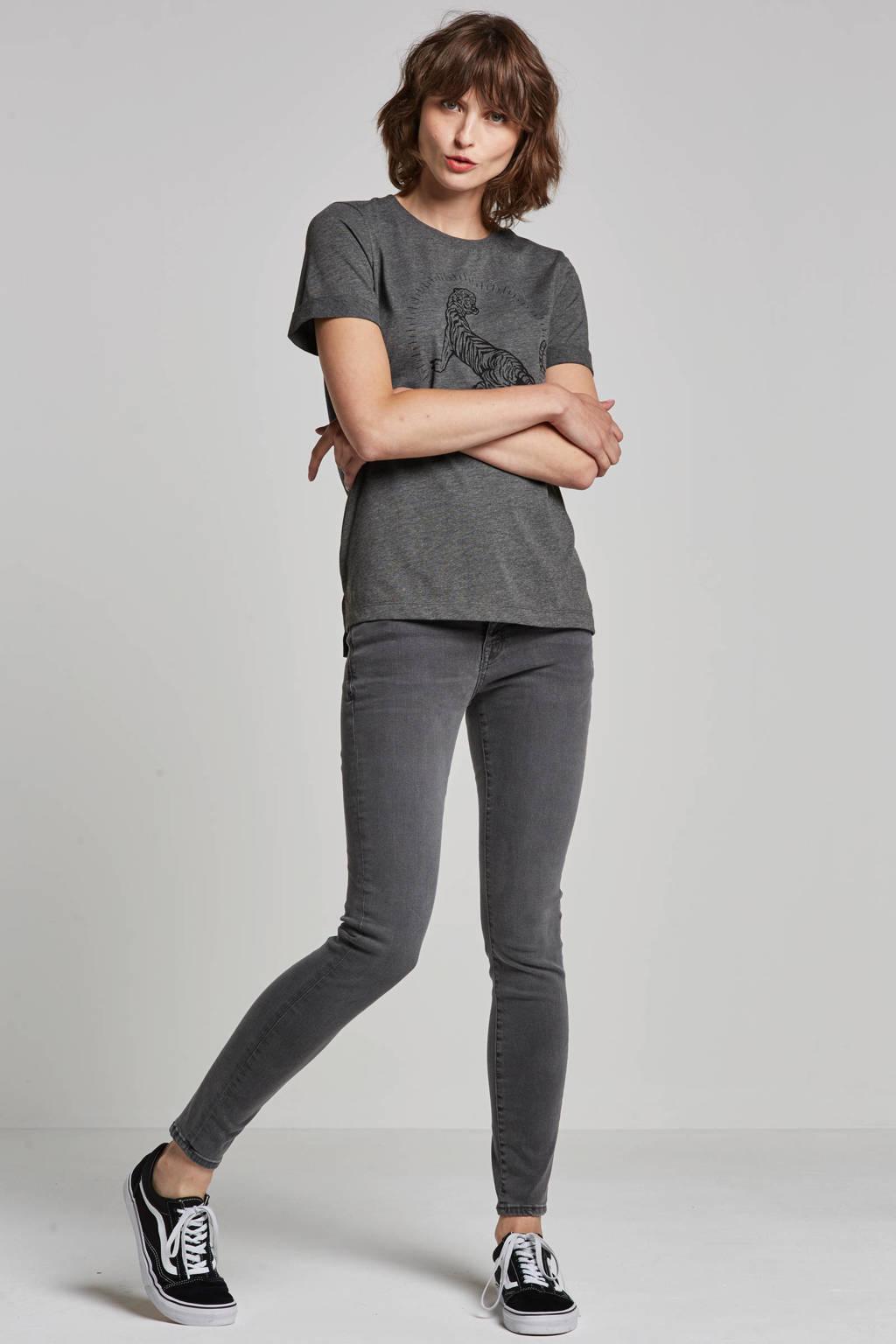 edc Women low waist skinny jeans, Grijs