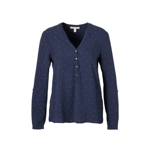 ESPRIT Women Casual top met stippen