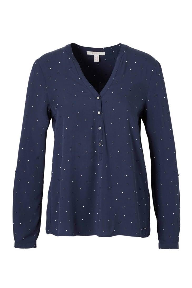 ESPRIT Casual Women stippen blouse met UwnxXFwvq