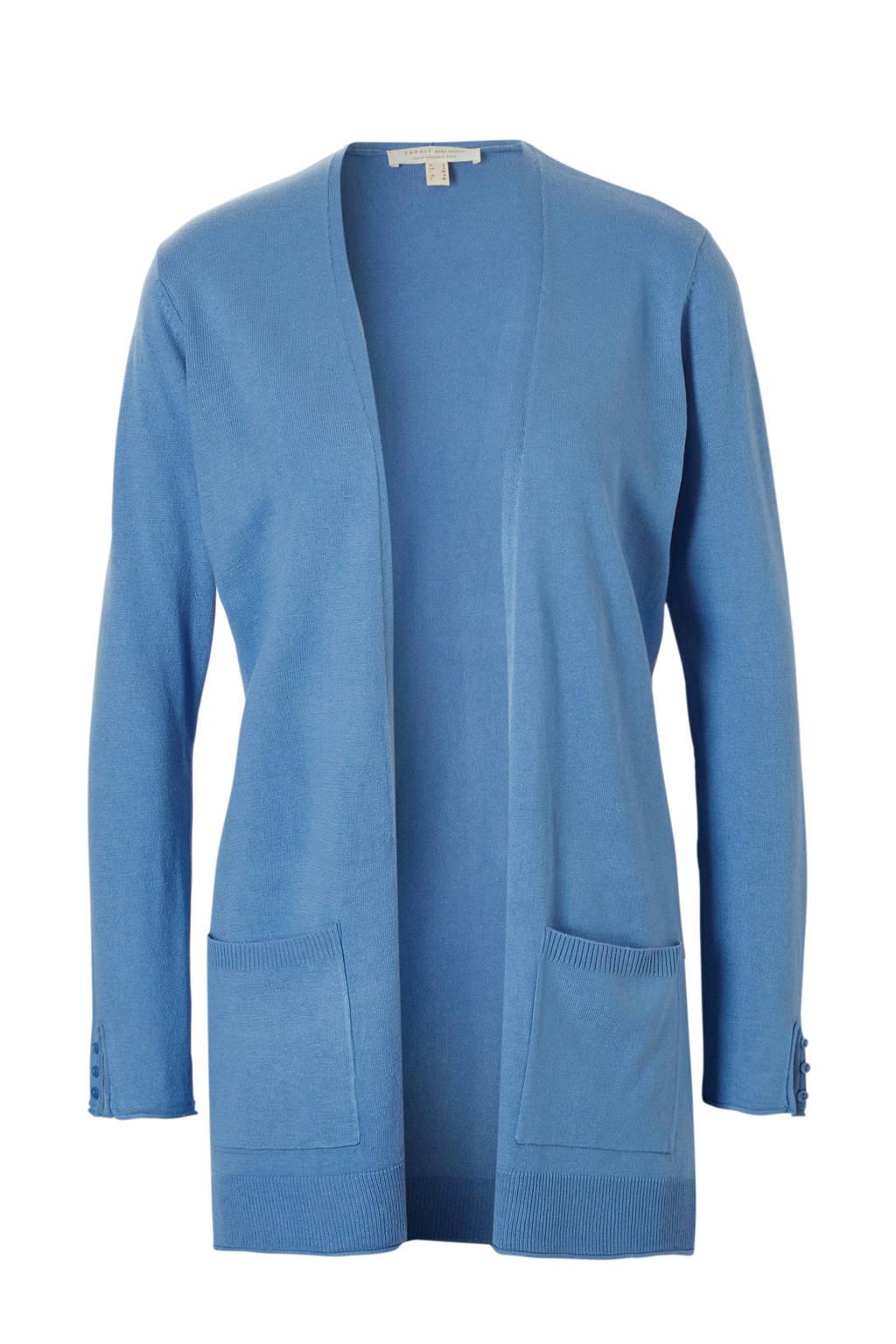ESPRIT Women Casual vest met steekzakken, Blauw