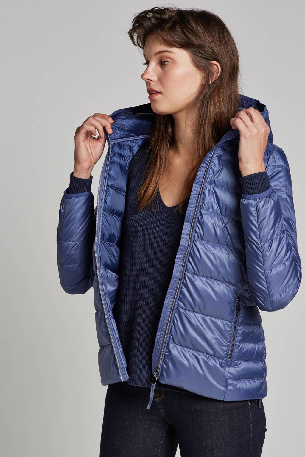 ESPRIT Women Casual dons jas, Blauw