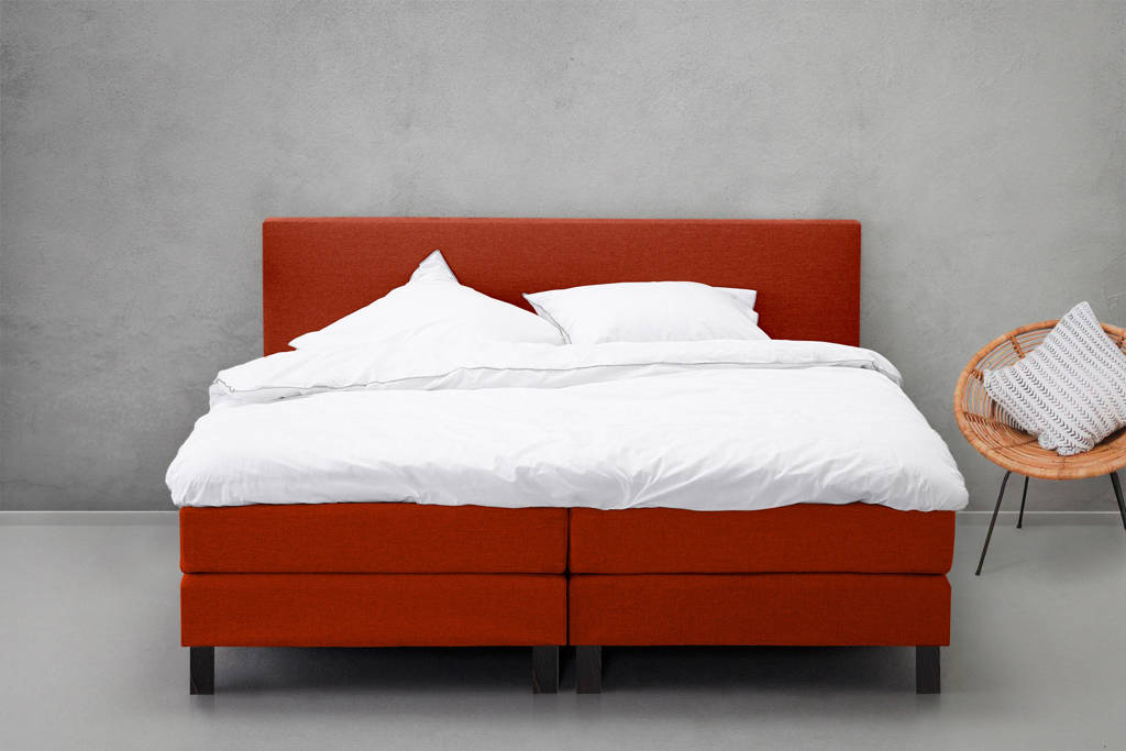 Beter Bed complete boxspring Salerno (140x200 cm), Roest