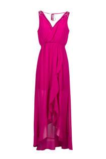 Morgan maxi jurk met mesh fuchsia