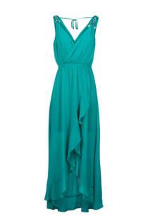 Morgan maxi jurk met mesh turquoise