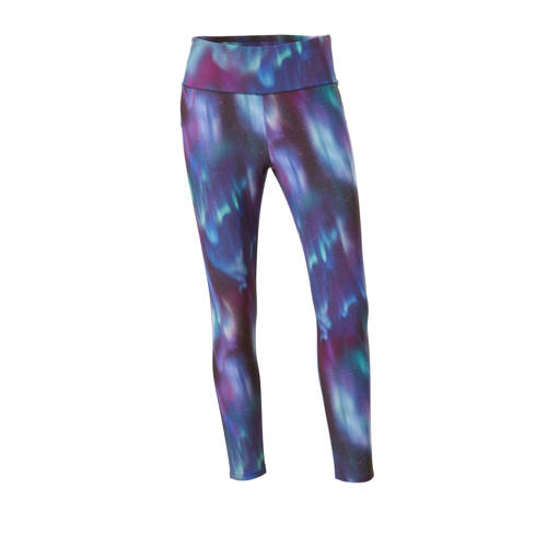 7-8 sportbroek met all-over print paars