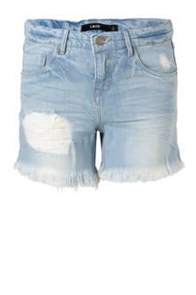 jeans short Raven met slijtage details