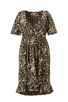 overslagjurk met luipaard print