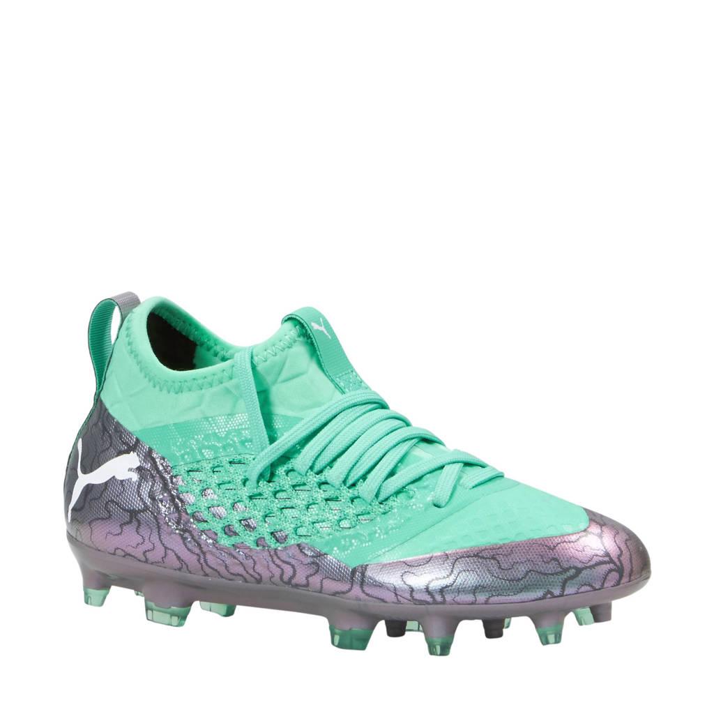 Puma Future 2.3 Netfit FG/AG voetbalschoenen zilver, Groen/grijs