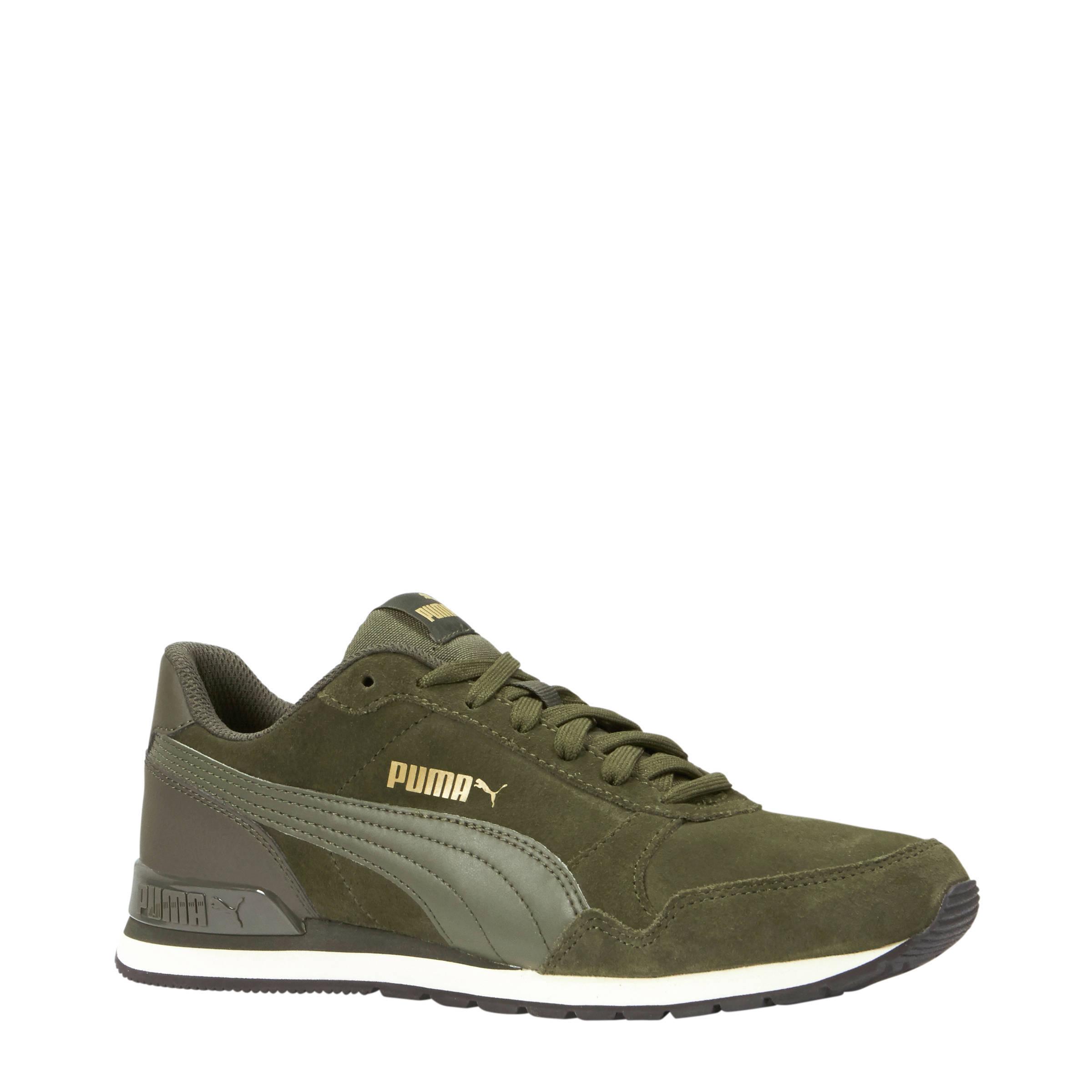 Puma ST Runner V2 SD sneakers donkergroen | wehkamp