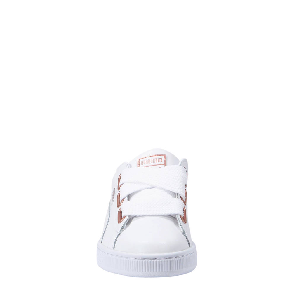 Puma Basket Heart sneakers wit, Wit/roségoud