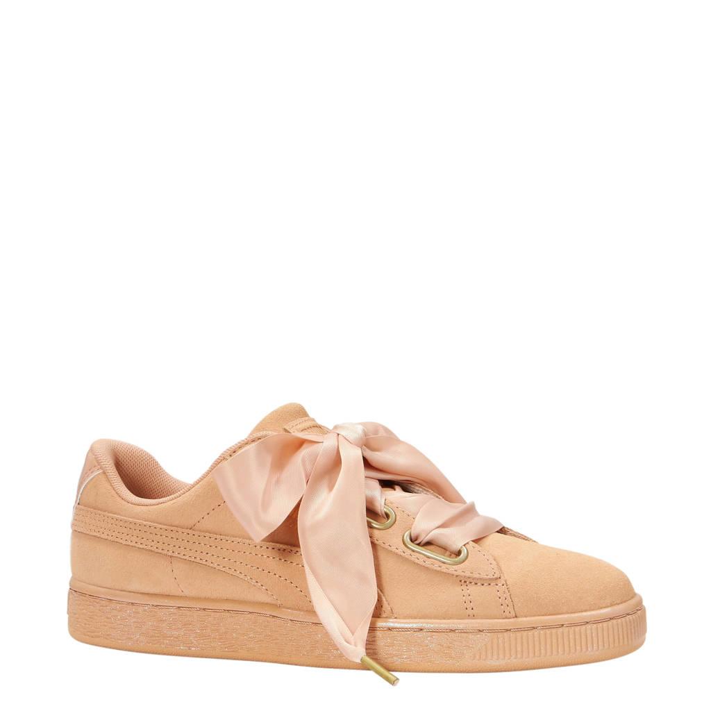 Puma Suede Heart Satin Wn's sneakers, Zalmrose