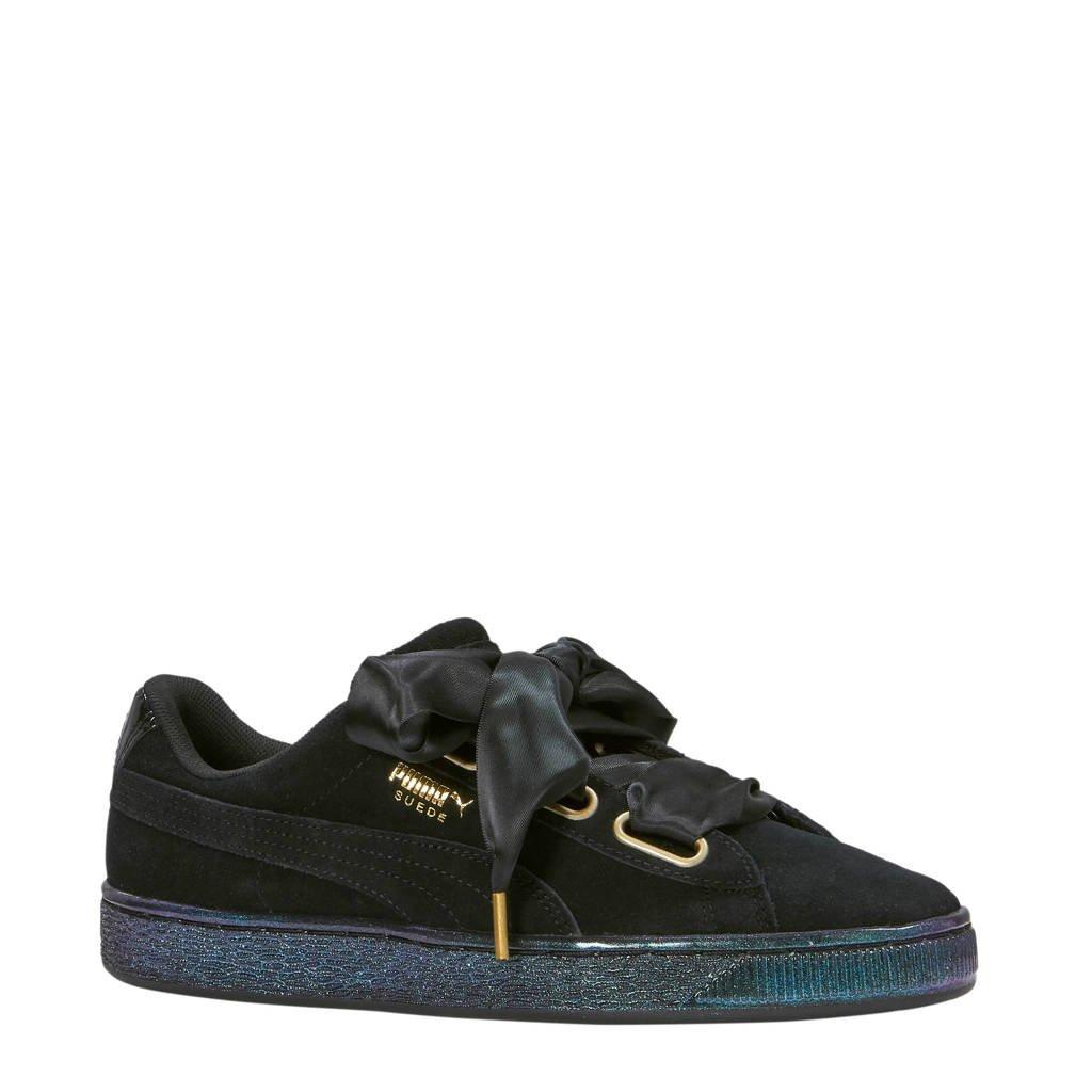 Puma Suede Heart Satin Wn's sneakers, Zwart