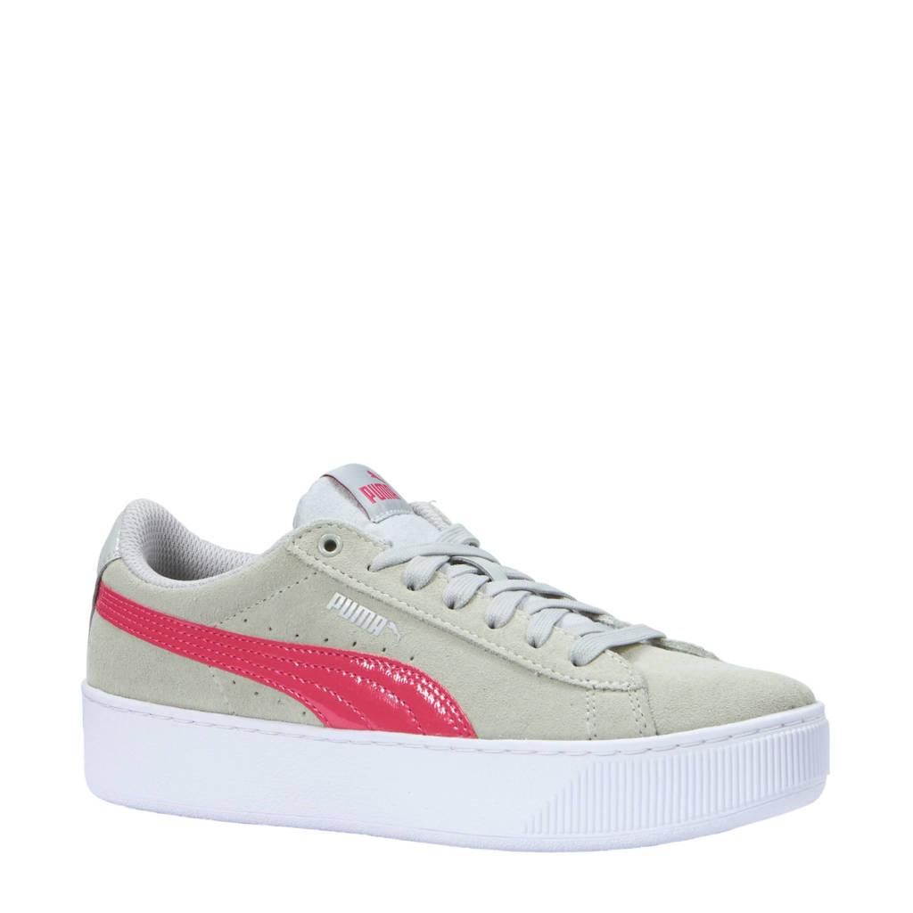 Puma  sneakers Vikky Platform Jr, Grijs/roze