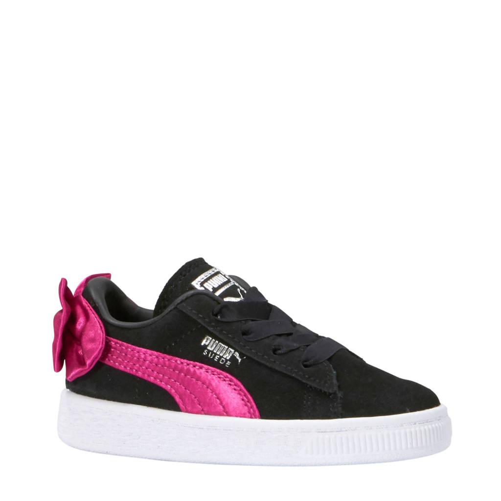 Puma  Suède Bow sneakers zwart/roze, Zwart/roze