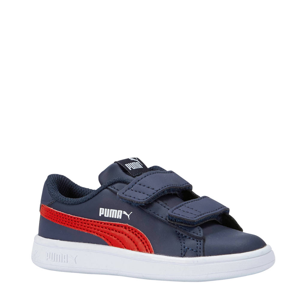 Puma  Smash V2 SD V inf sneakers donkerblauw, Donkerblauw/rood