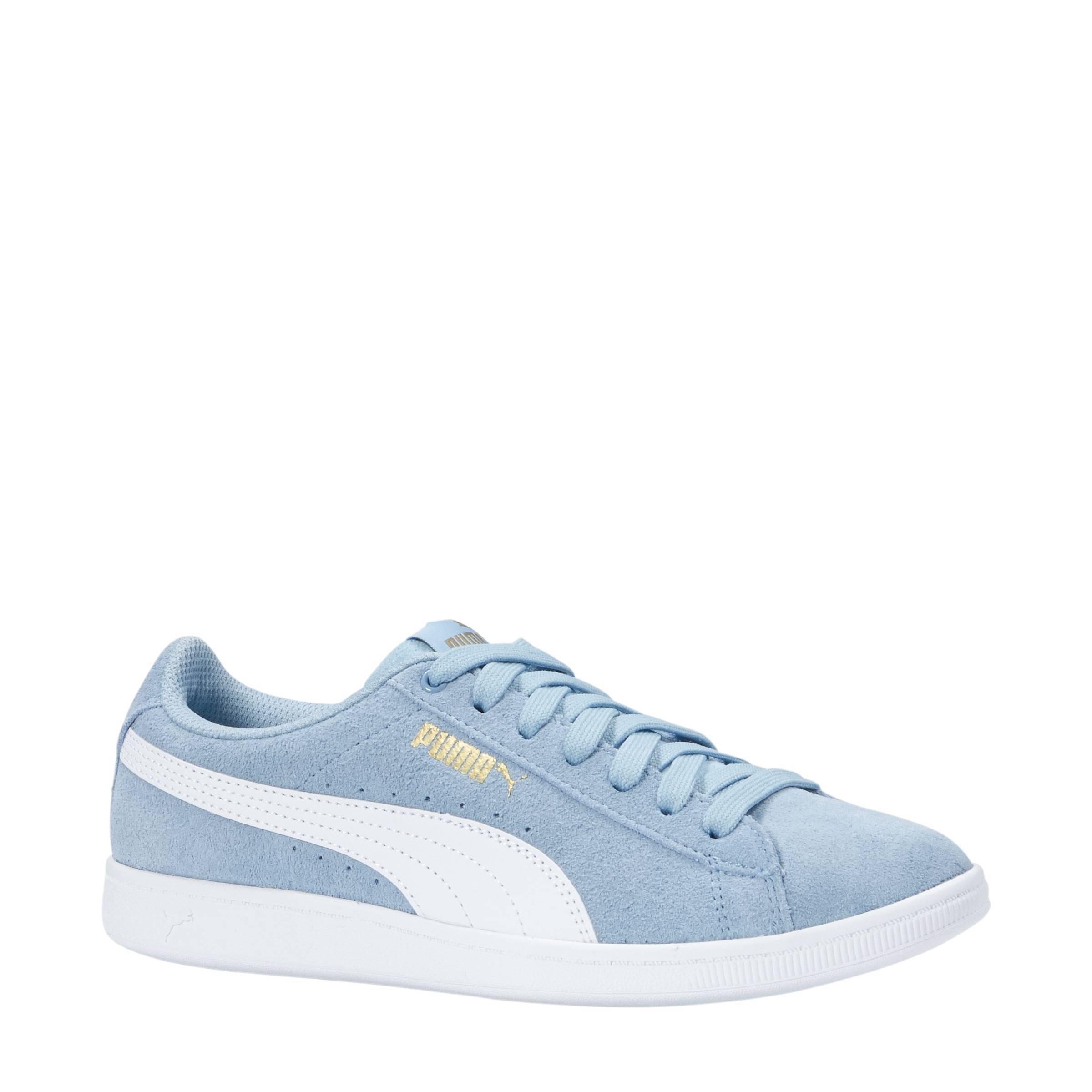 Vikky Jr suède sneakers lichtblauw