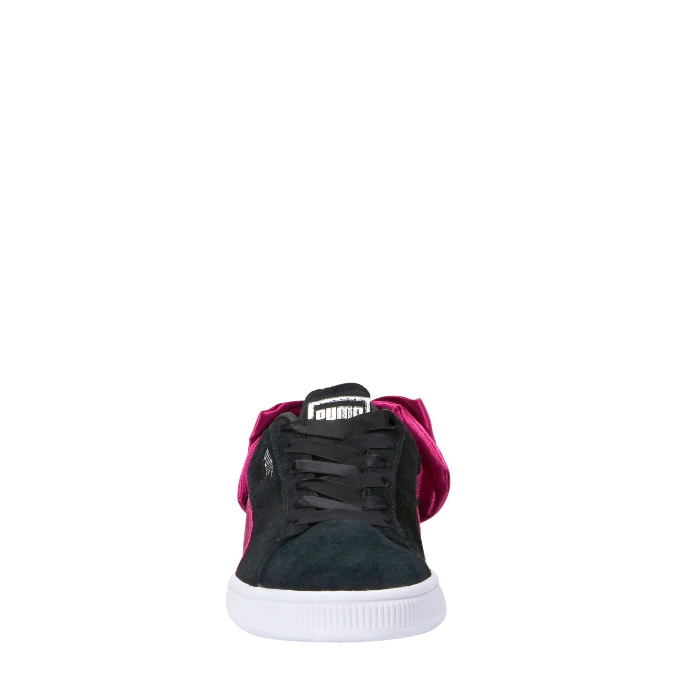 Puma Suède Bow AC PS sneakers zwartroze | wehkamp