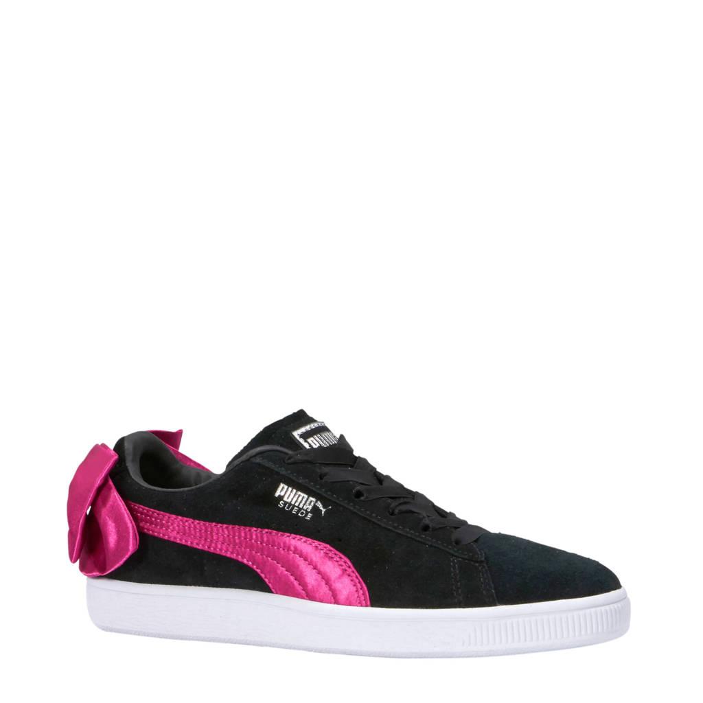 Puma  Suède Bow AC PS sneakers zwart/roze, Zwart/roze