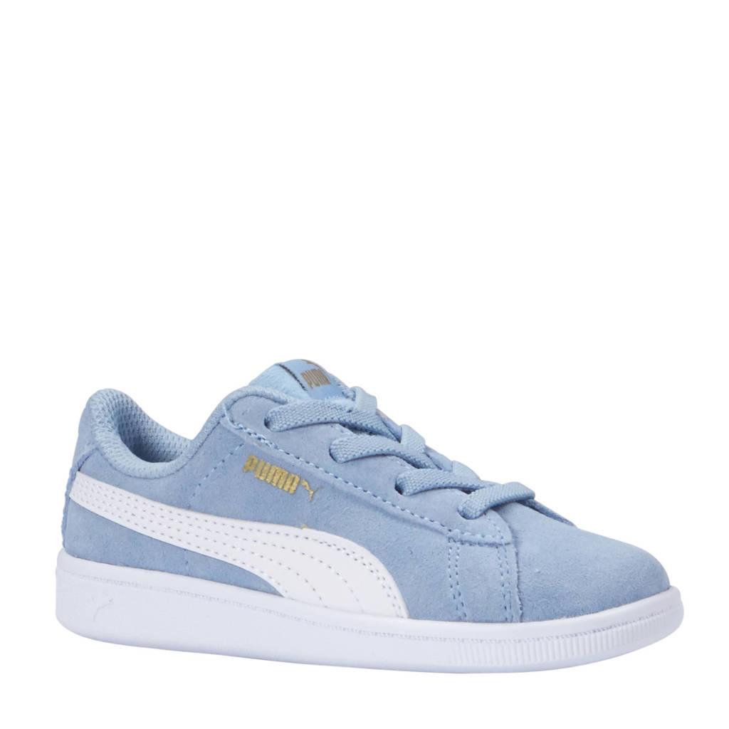 Puma  Vikky AC Inf suède sneakers lichtblauw, Lichtblauw/wit