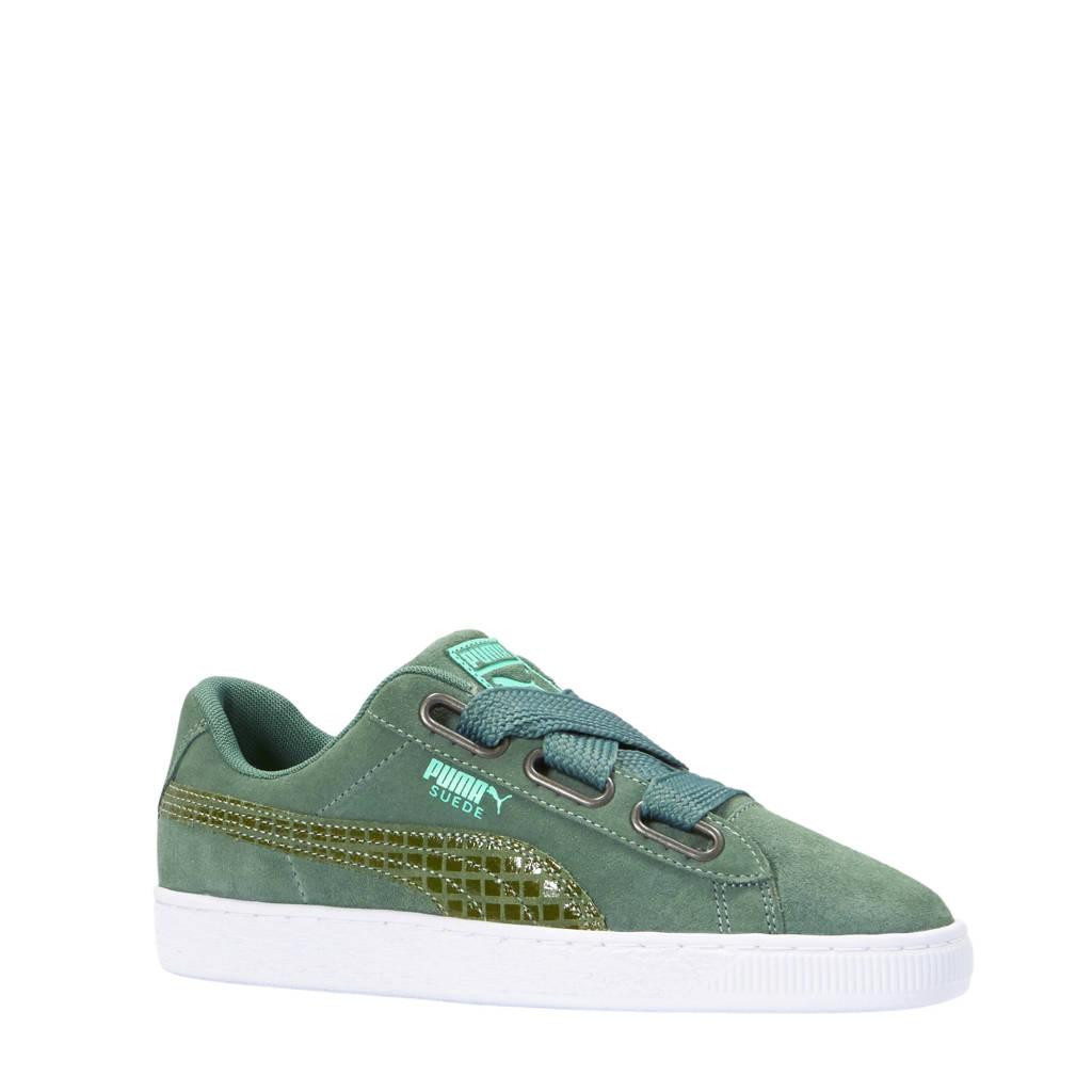 Puma  Suede Heart Street 2 sneakers groen, Groen