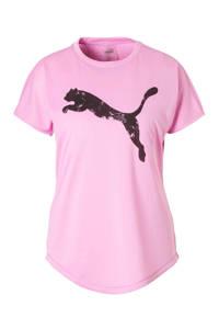 Puma / sport T-shirt met mesh roze
