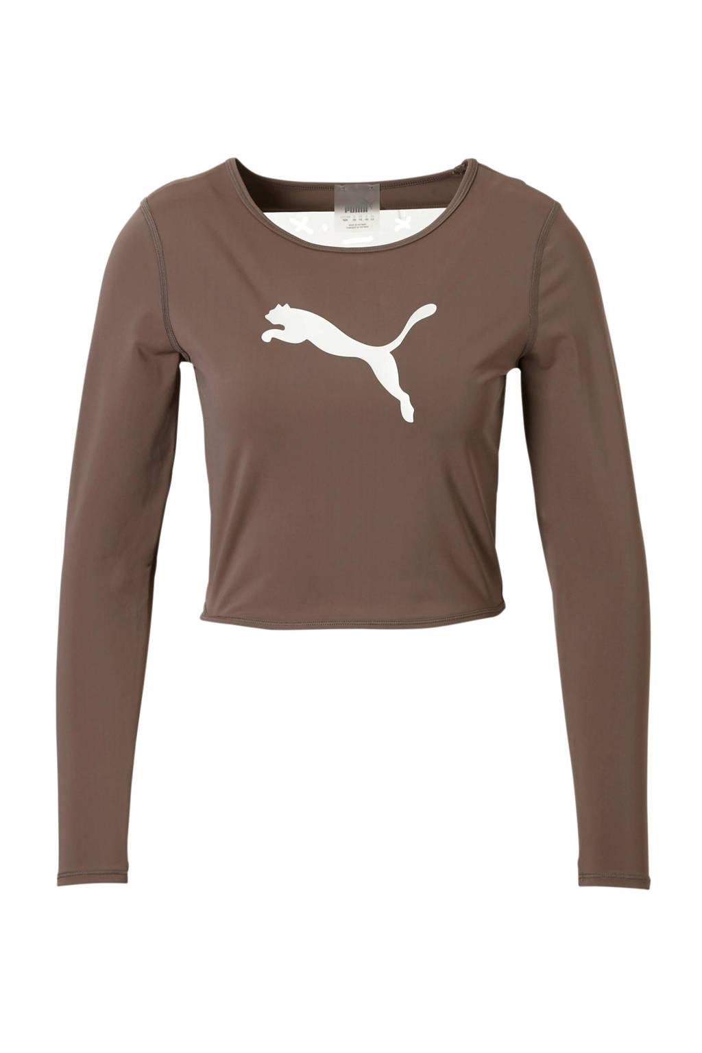 Puma sport T-shirt taupe, Taupe