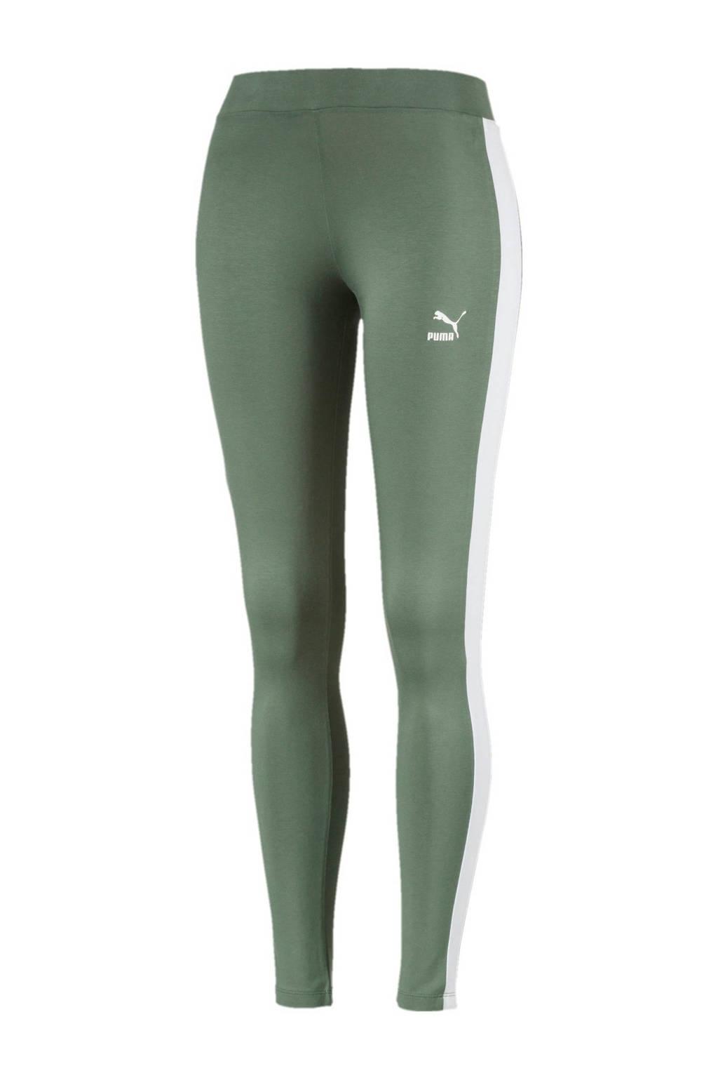 Puma 7/8 sportlegging, Groen/wit