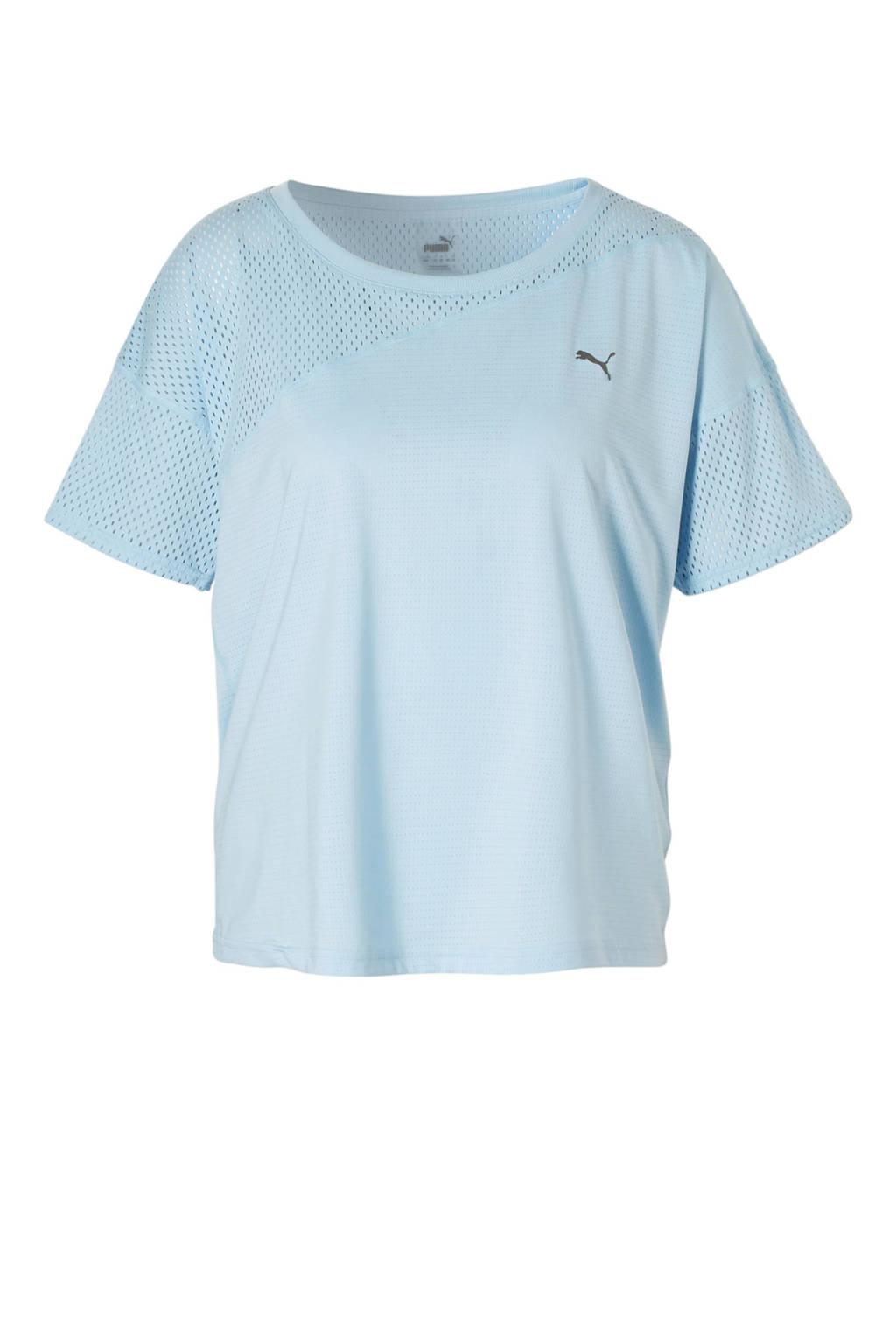 Puma mesh sport T-shirt lichtblauw, Lichtblauw