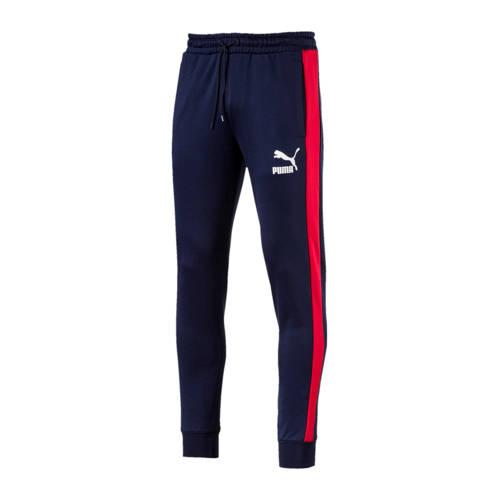 sportbroek donkerblauw-rood