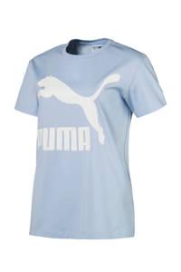Puma / Classics Logo Tee T-shirt lichtblauw