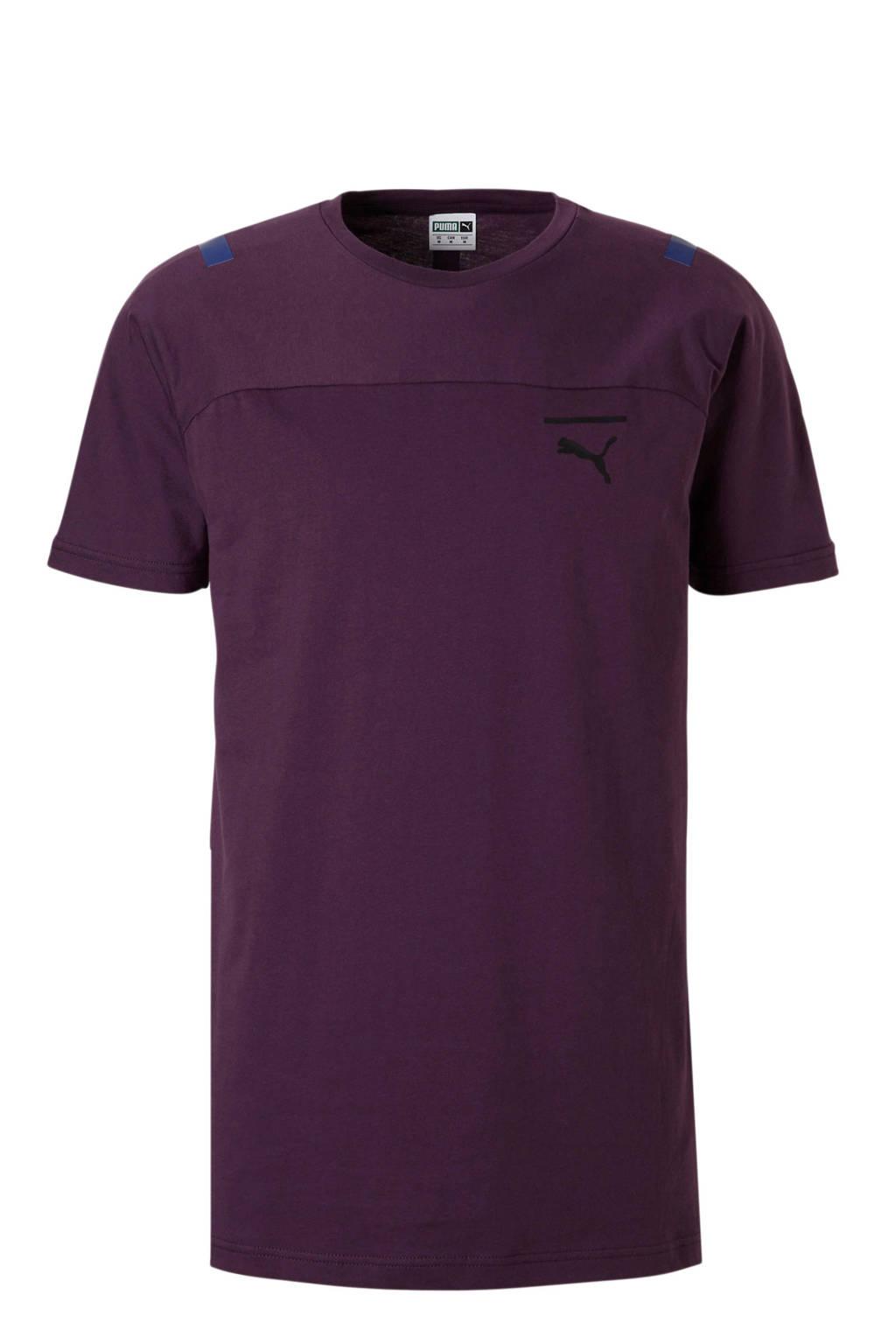 Puma   lang T-shirt paars, Paars