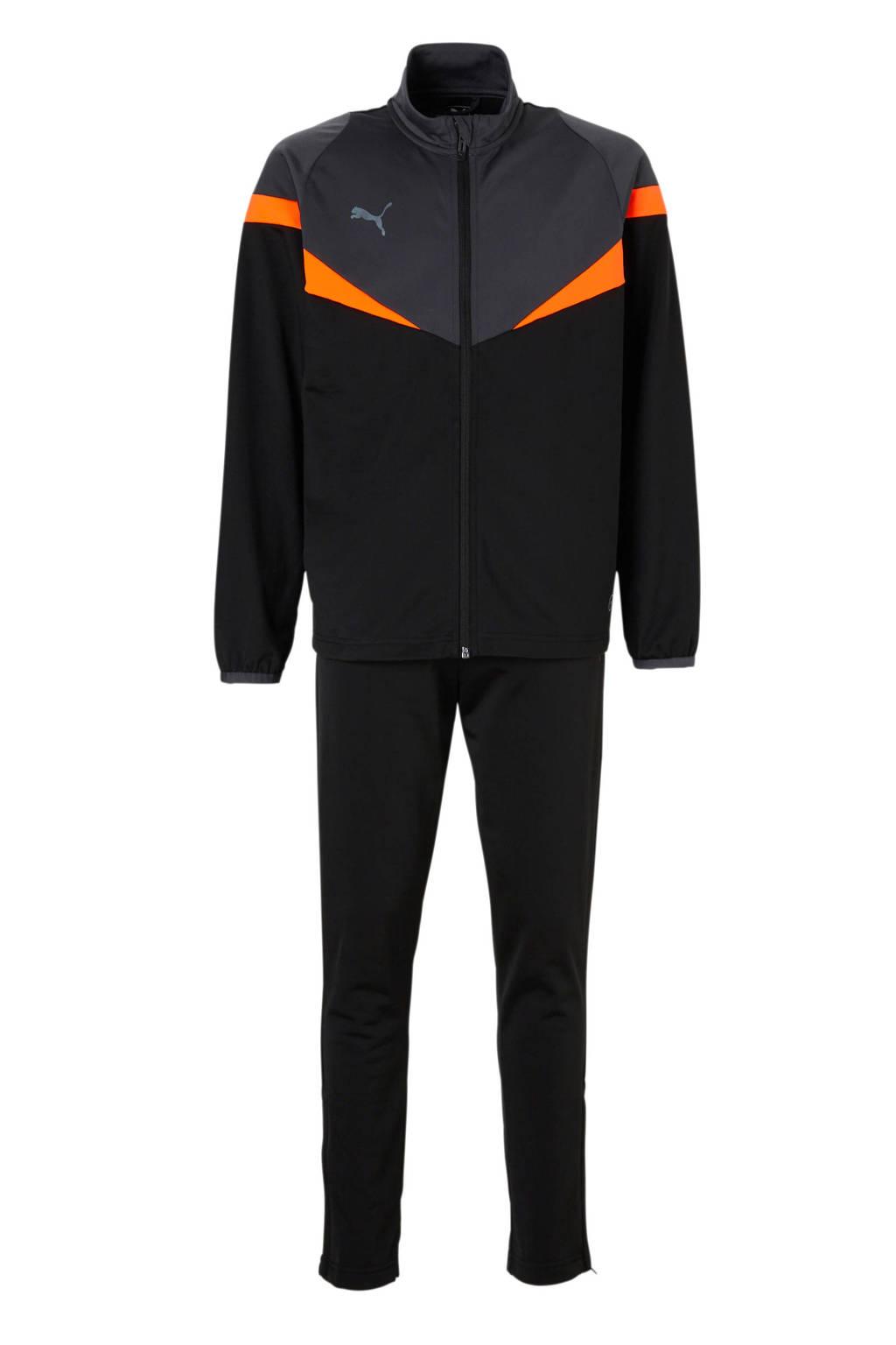 Puma   trainingspak, Zwart/grijs/oranje