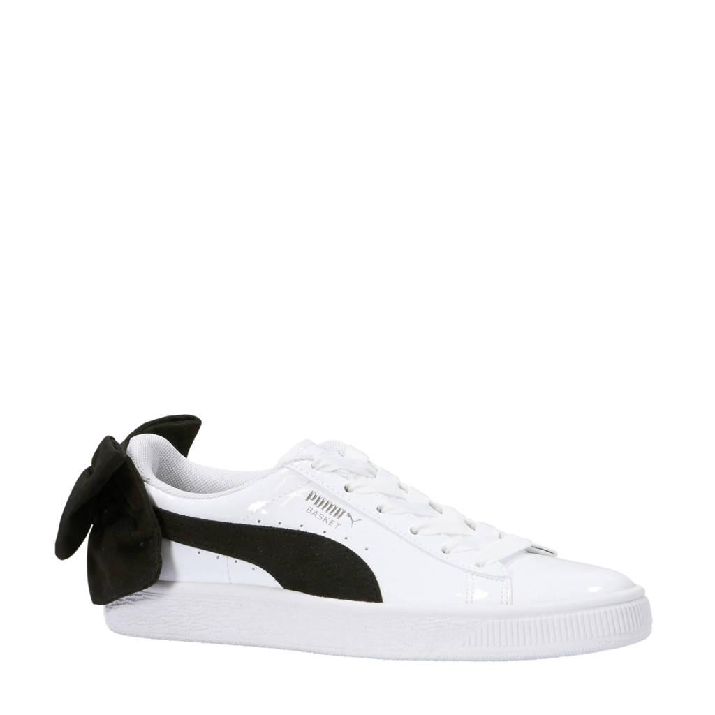 Puma Basket Bow SB sneakers wit/zwart, Wit/zwart