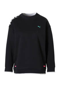 Puma sweater met mesh zwart (dames)