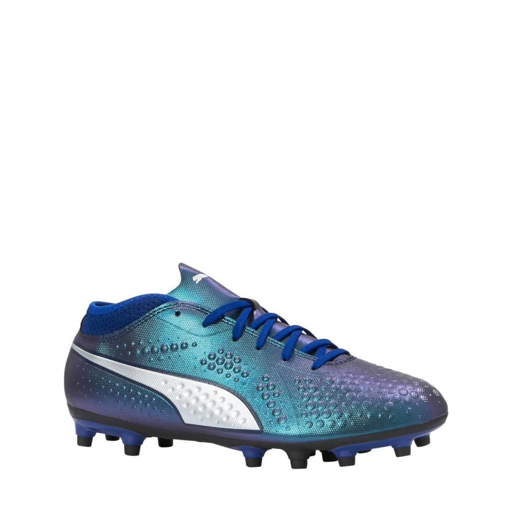 Puma ONE 4 Syn FG voetbalschoenen groen/blauw, Groen/blauw