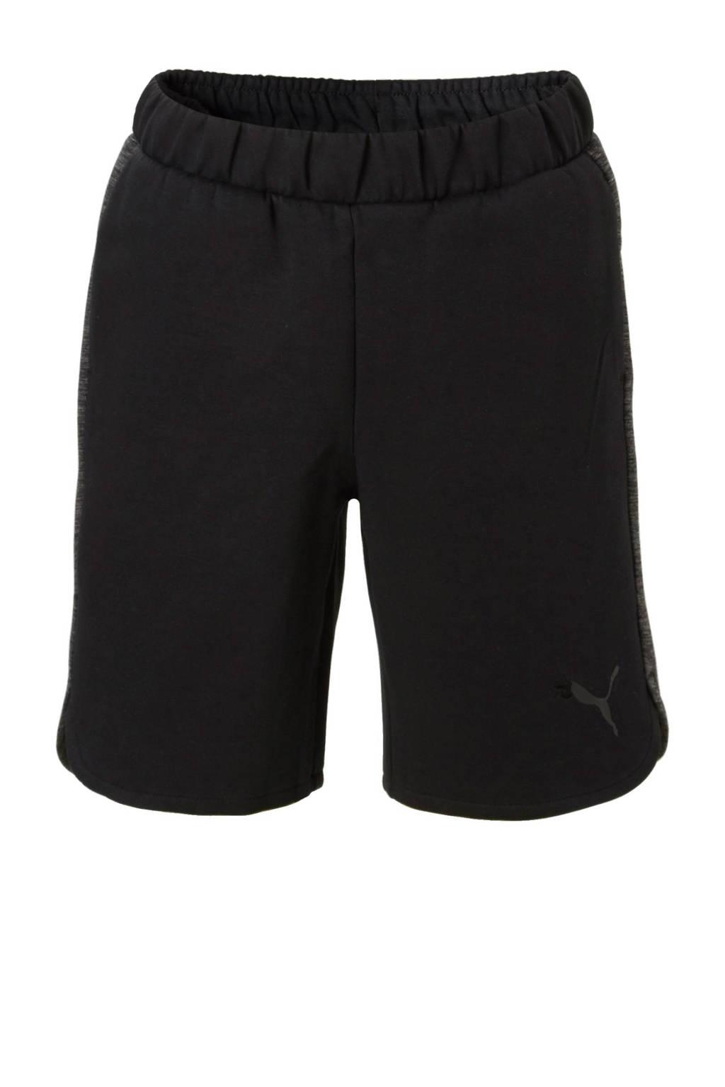 Puma   sweatshort zwart, Zwart/grijs