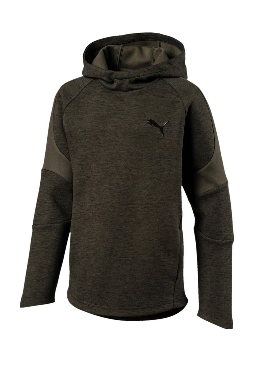 Puma   Evostripe hoodie donkergroen, Donkergroen