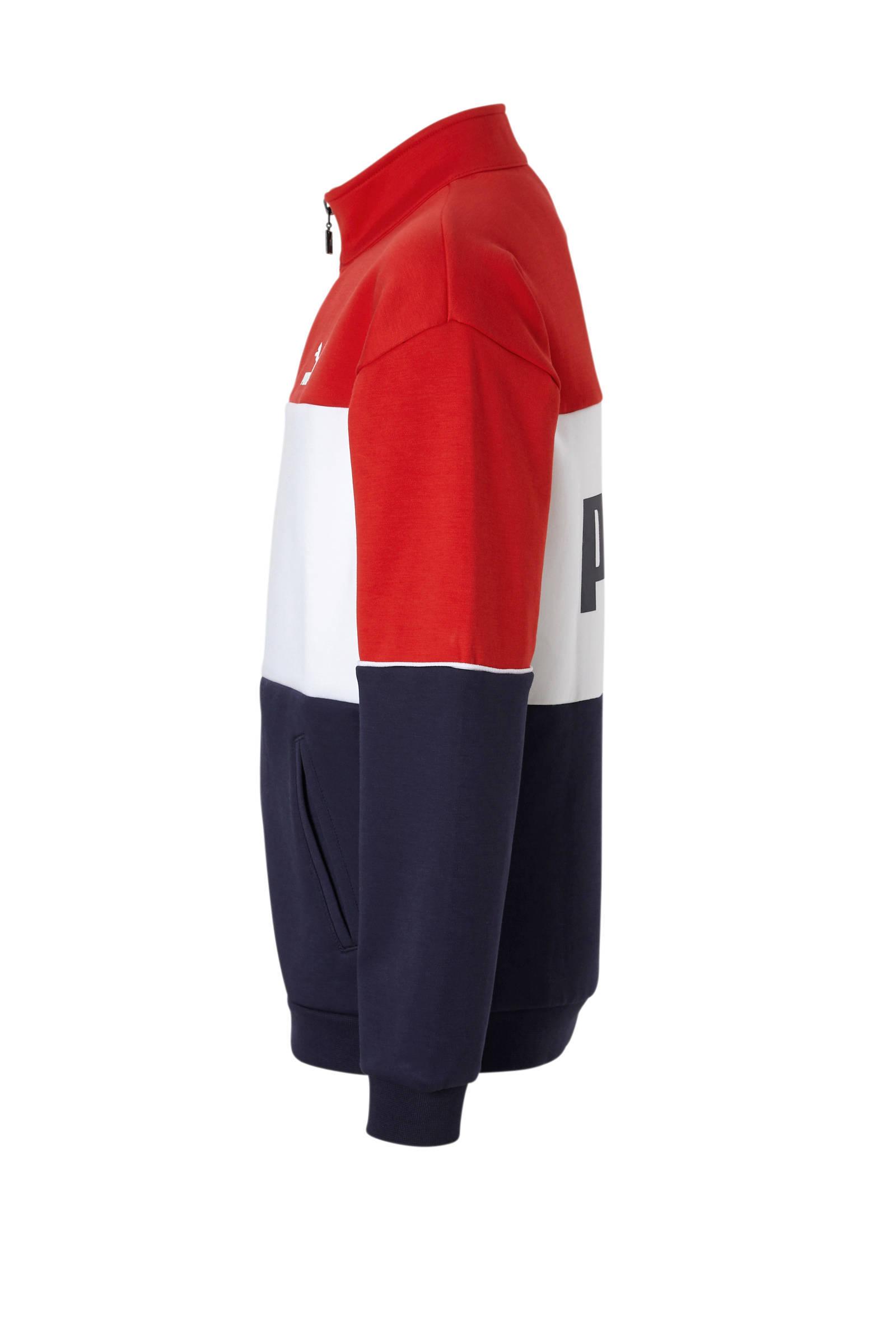 Puma Retro Jkt B sweatvest roodwitblauw | Adidas jacket