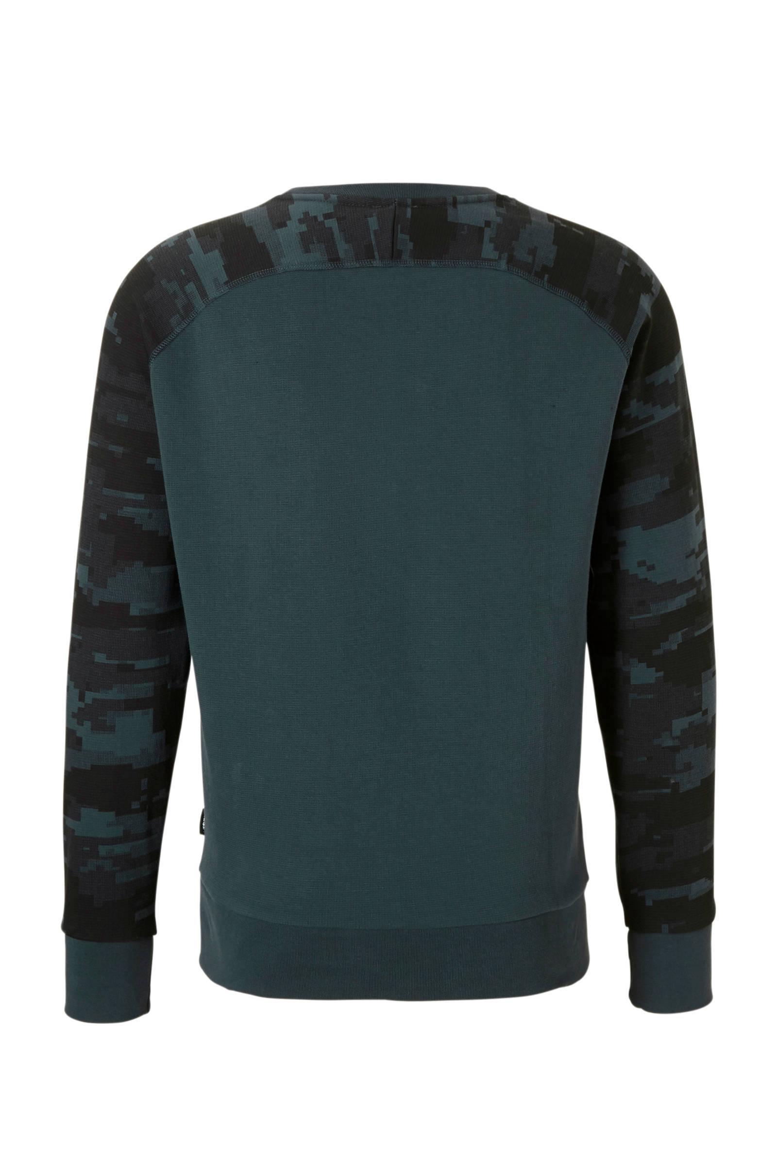 blauw zwart sweater Diesel sweater Diesel xavttB