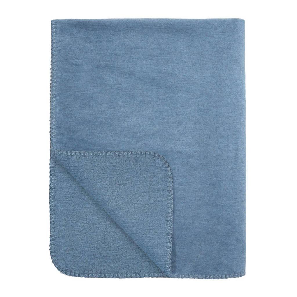 Meyco Uni wiegdeken 75x100 cm jeans