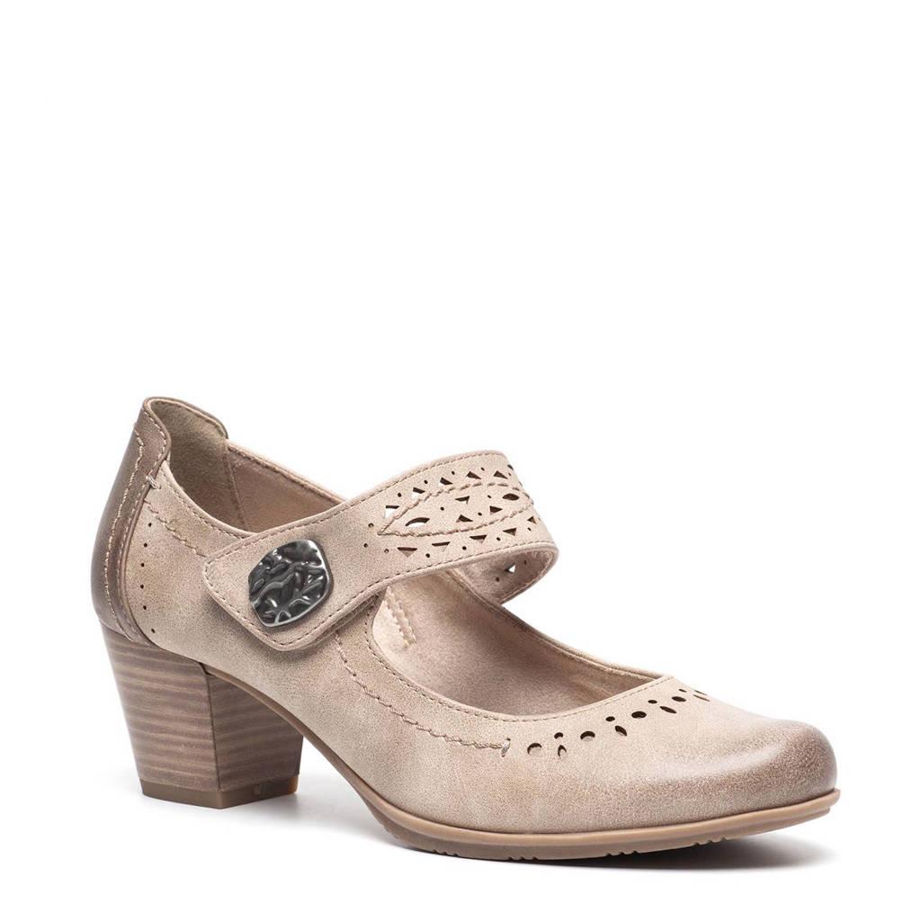 Scapino Softline klittenbandschoenen taupe, Taupe/bruin