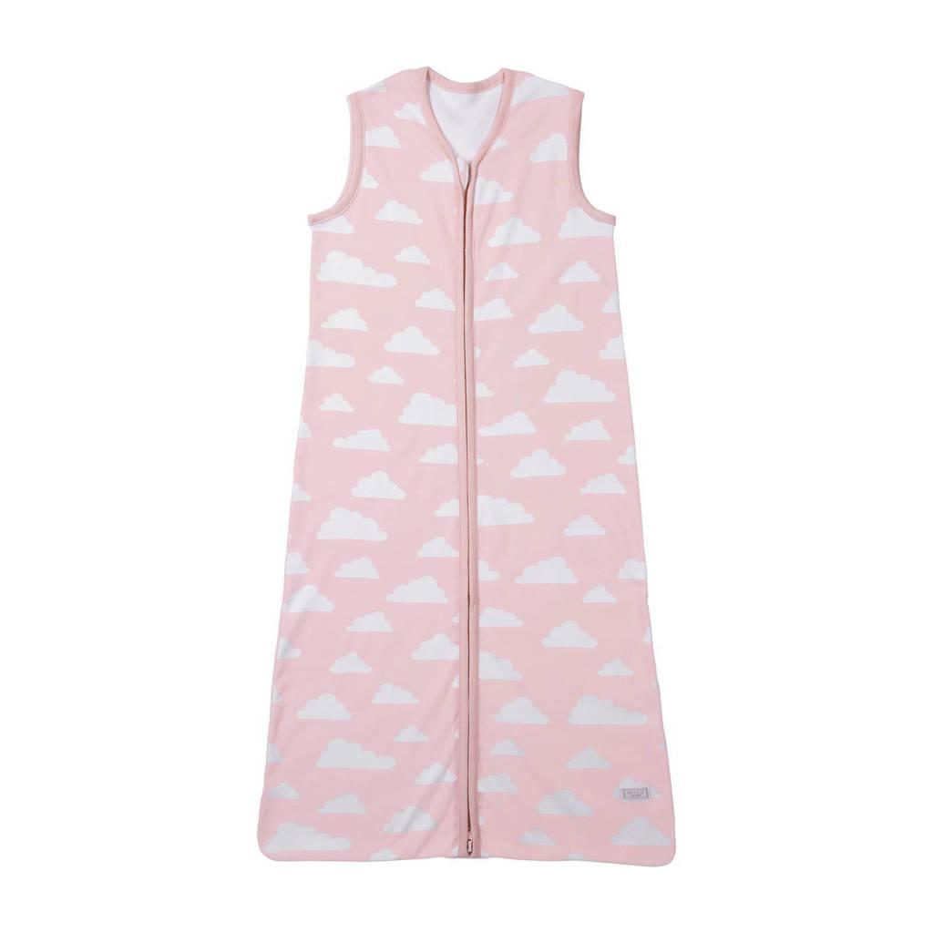 Meyco Little clouds baby slaapzak zomer 70 cm roze, Vanaf de geboorte, Lichtroze/wit