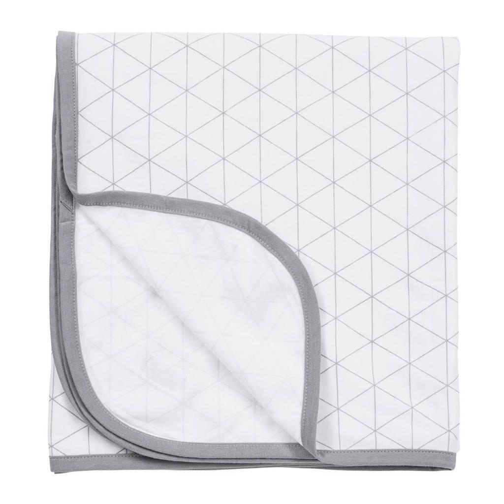 Meyco Triangle multidoek 120x120 cm wit/grijs, Wit/grijs
