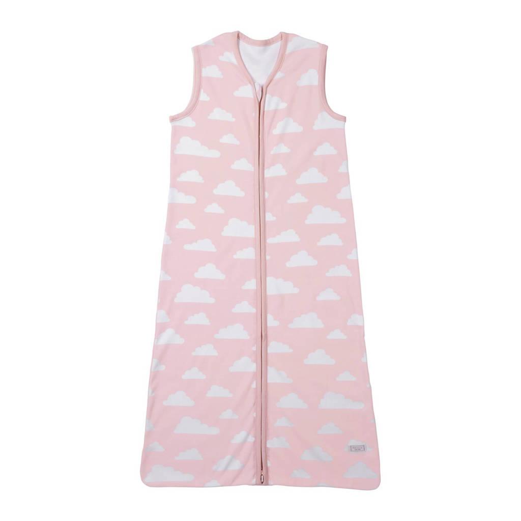 Meyco Little clouds baby slaapzak zomer 90 cm roze, Vanaf 6 maanden, Lichtroze/wit