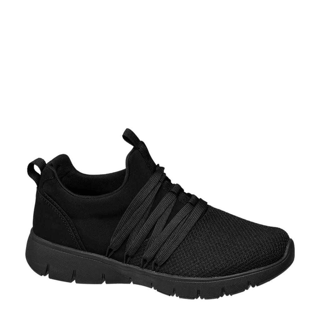 vanHaren Venice   sneakers zwart, Zwart