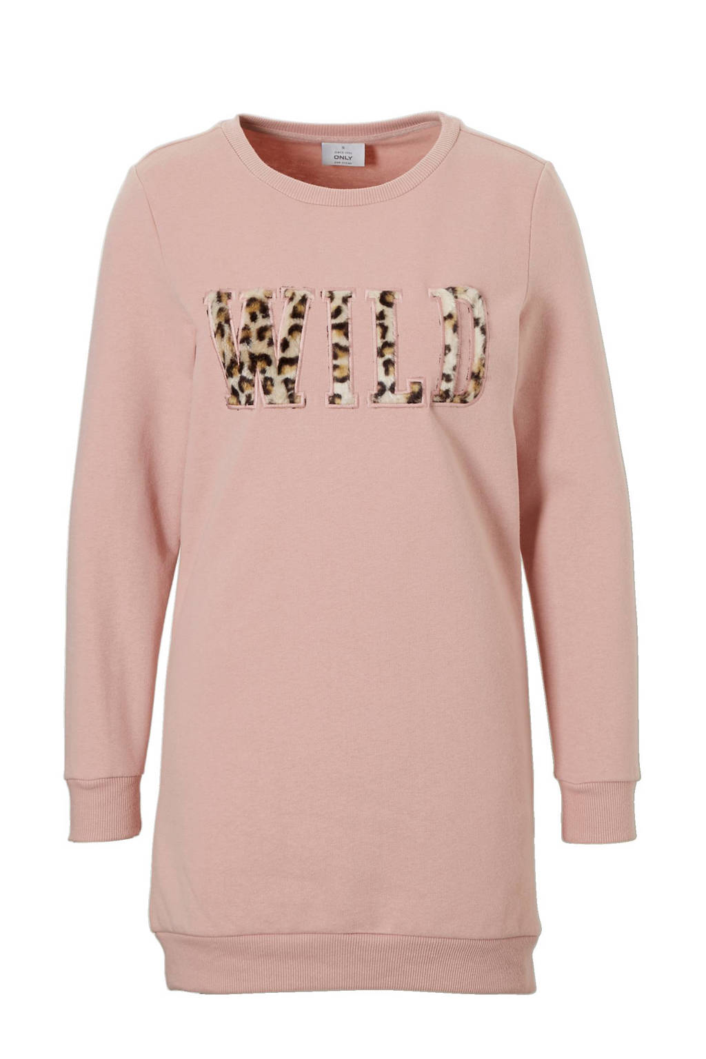 2a356c2ea13e3d ONLY sweat jurk met flockprint