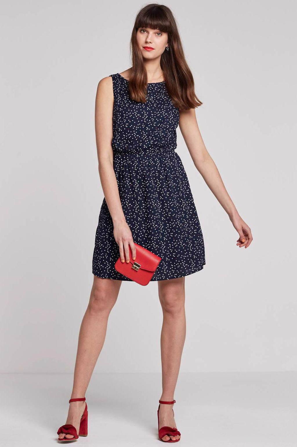 Tom Tailor Easy print jurk, Blauw/wit/rood