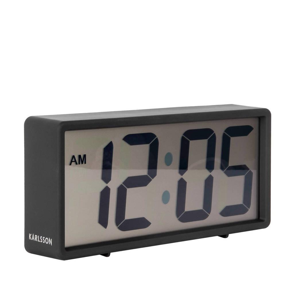 Karlsson Klokken alarmklok Coy (18.5x8.5 cm), Zwart