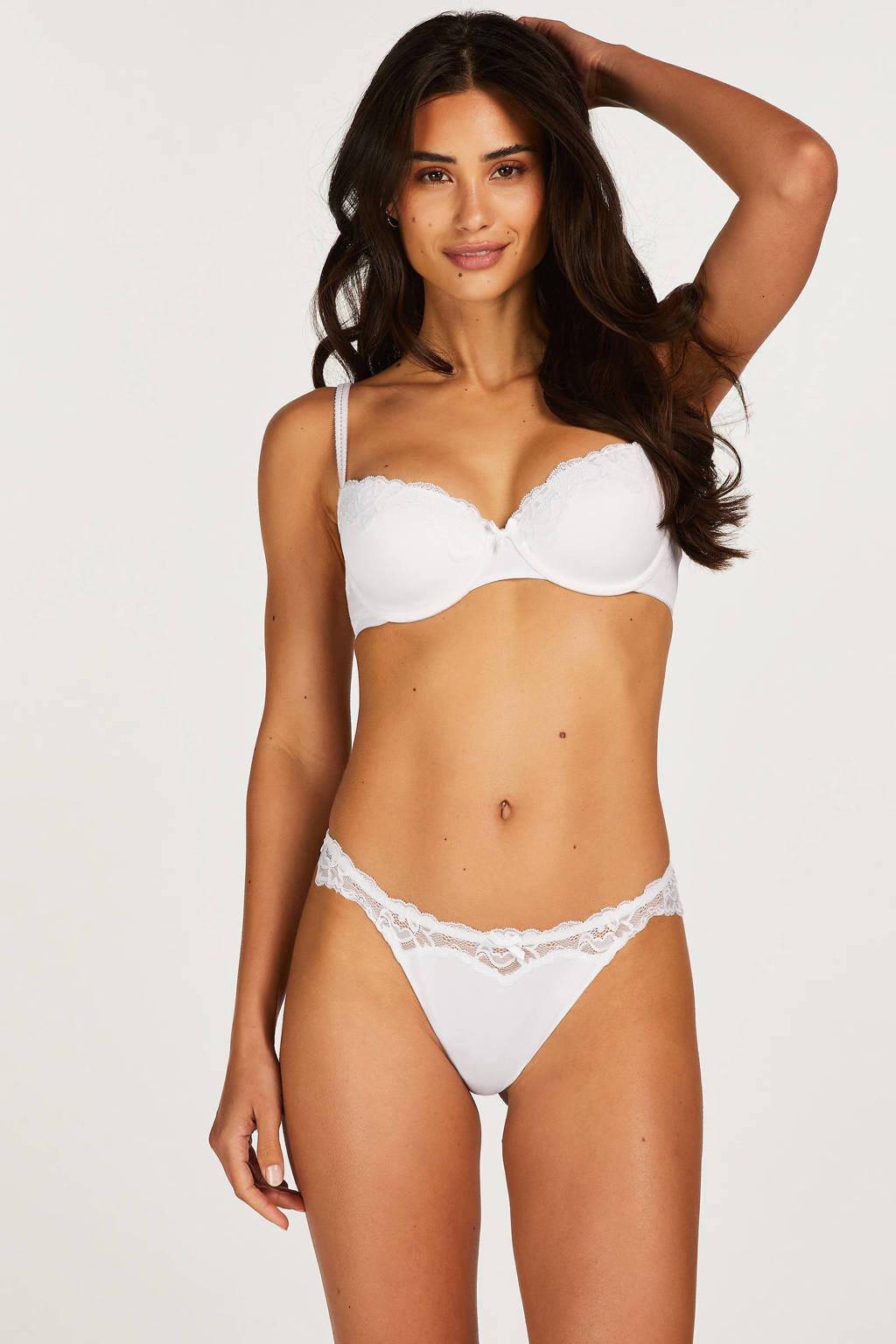 Hunkemöller voorgevormde beugelbh Secret Lace wit, Wit