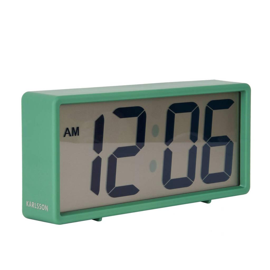 Karlsson Klokken alarmklok Coy (18.5x8.5 cm), Groen